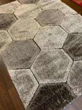 Rugs Approx 6x4Ft 120x160CM Rugs 3D Designs Top Quality Grey/Silver Rugs Soft